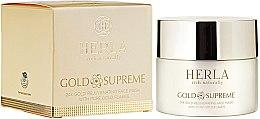 Profumi e cosmetici Maschera viso ringiovanente - Herla Gold Supreme 24K Gold Rejuvenating Face Mask With Pure Gold Flakes
