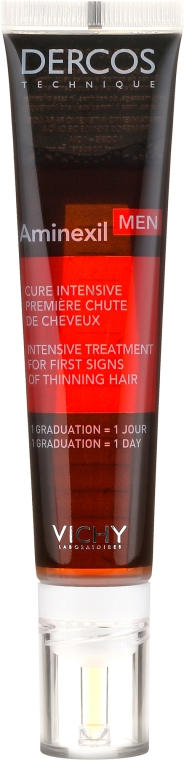 Rimedio anti-caduta dei capelli per uomino - Vichy Dercos Aminexil Men Intensive Treatment First Signs of Thinning Hair — foto N2