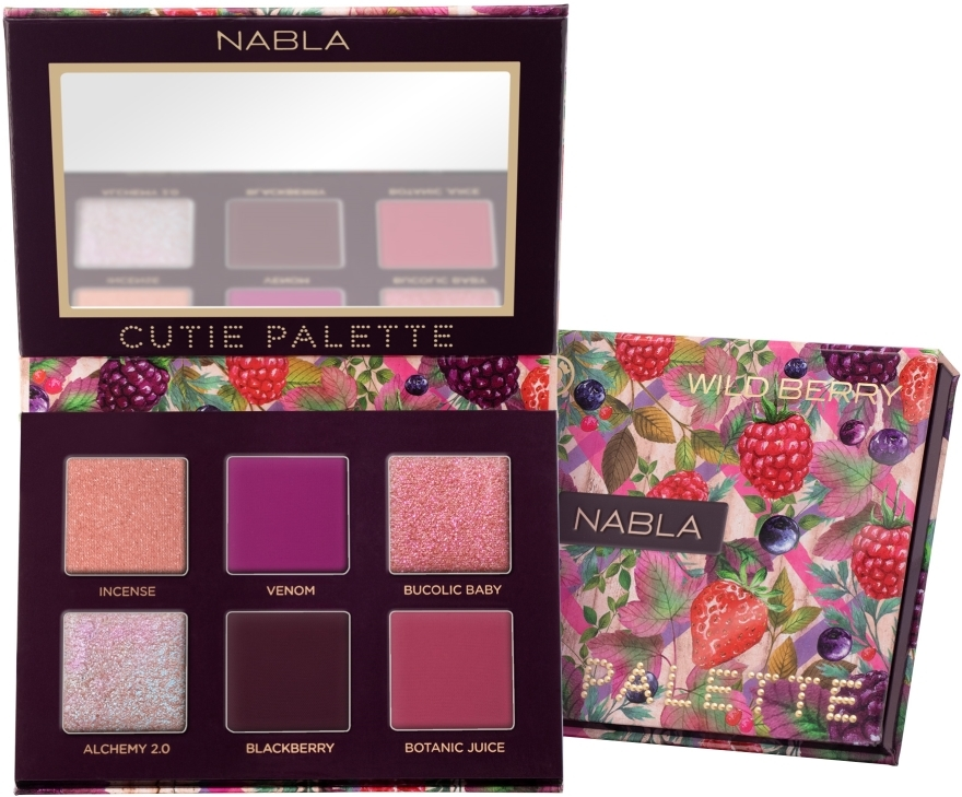 Palette di ombretti - Nabla Cutie Collection Palette Wild Berry