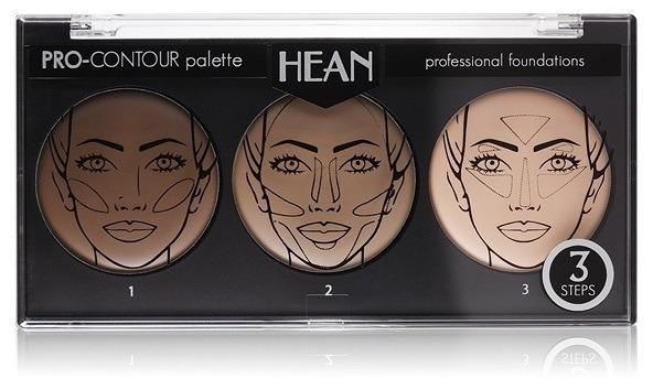 Palette contorno viso tre colori - Hean Pro-Countour Palette