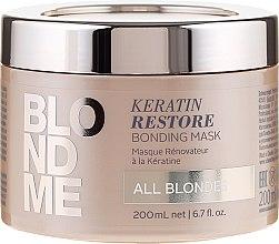 Profumi e cosmetici Maschera alla cheratina per capelli biondi - Schwarzkopf Professional Blondme Keratin Restore Bonding Mask