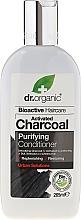 Profumi e cosmetici Balsamo per capelli al carbone attivo - Dr. Organic Bioactive Haircare Activated Charcoal Conditioner
