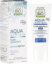 Profumi e cosmetici Fluido viso disintossicante, da notte - So'Bio Etic Aqua Energie Detoxifying Fluid Night