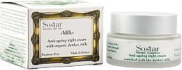 Profumi e cosmetici Crema rigenerante per viso, da notte - Sostar Anti-Aging Night Cream Enriched With Bio Donkey Milk