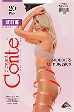 """Profumi e cosmetici Collant """"Active"""" 20 Den, mocca - Conte"""
