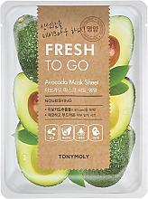 Profumi e cosmetici Maschera in tessuto all'estratto di avocado - Tony Moly Fresh To Go Avocado Mask Sheet Nourishing