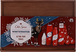 Profumi e cosmetici Set - Old Spice Whitewater Wooden (deo/50g + sh/gel/250ml + ash/lot/100ml + deo/spray/150ml)