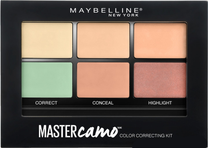 Kit per il contouring del viso (corettore, concealer, highlighter) - Maybelline Master Camo Color Correcting Concealer Kit