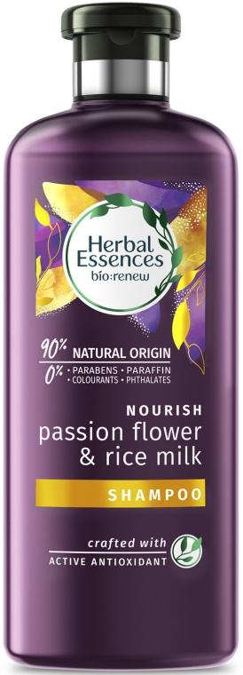 Shampoo idratante per capelli secchi e danneggiati - Herbal Essences Passion Flower & Rice Milk Shampoo — foto N1