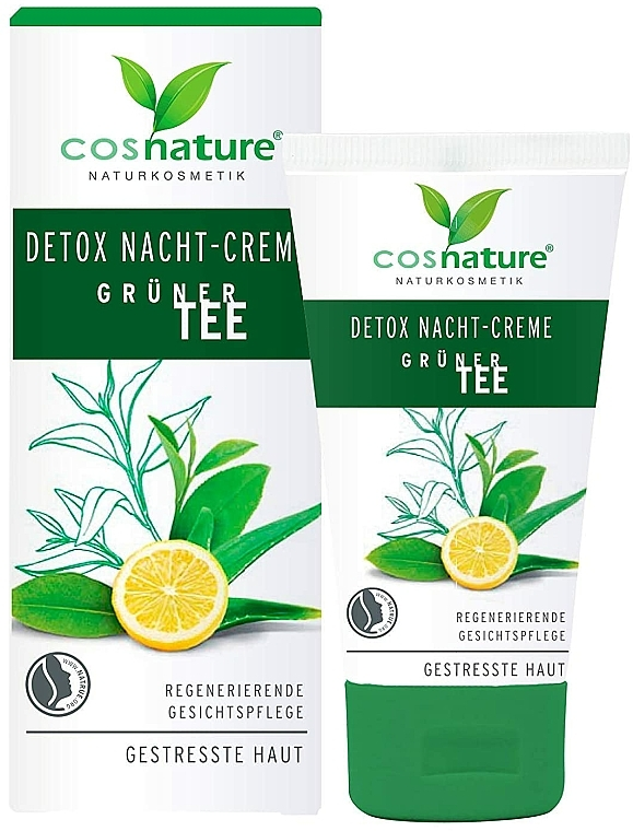"Crema viso da notte ""Detox"" - Cosnature Night Cream Detox Green Tea — foto N1"