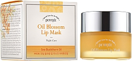 Profumi e cosmetici Maschera labbra da notte con vitamina E e olio di olivello spinoso - Petitfee&Koelf Oil Blossom Lip Mask