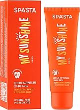 """Profumi e cosmetici Dentifricio naturale per bambini """"Prevenzione della carie e rafforzamento dello smalto"""" - Spasta My Sunshine"""