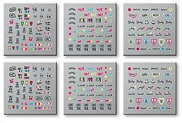 Profumi e cosmetici Adesivi per unghie, 6 pz, 42300 - Top Choice Words Neon