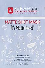 Profumi e cosmetici Maschera viso in tessuto opacizzante - Erborian Matte Shot Mask