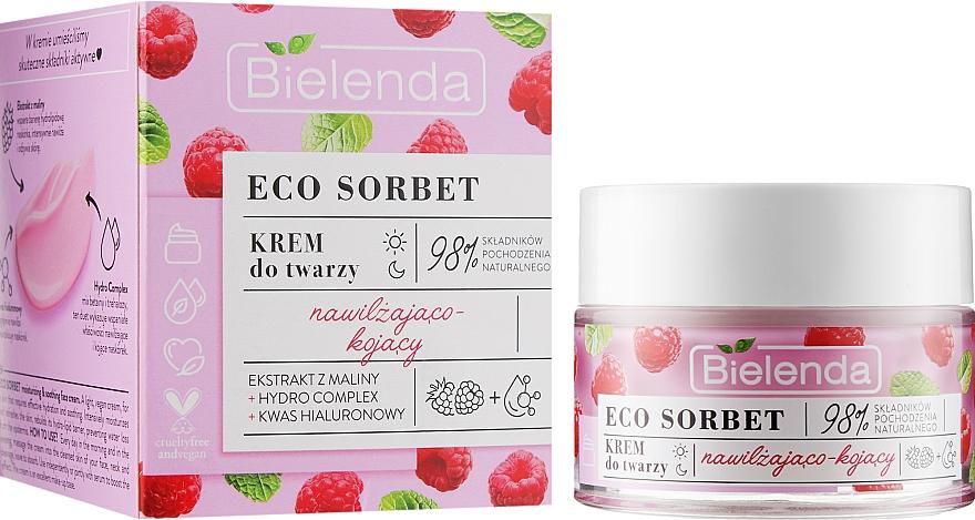 Crema viso con estratto di lampone - Bielenda Eco Sorbet Moisturizing & Soothing Face Cream
