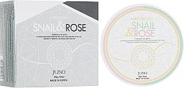 """Profumi e cosmetici Patch contorno occhi in idrogel """"Bava di lumaca e rosa"""" - Juno Medibeau Hydrogel Eye Patches Snail&Rose"""