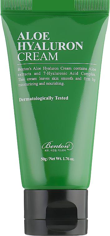 Crema viso idratante all'aloe e acido ialuronico - Benton Aloe Hyaluron Cream