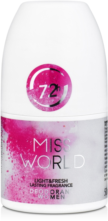 Vittorio Bellucci Miss World - Deodorante profumato roll-on
