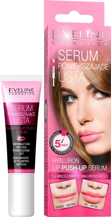 "Siero attivo labbra ""Effetto Push-Up"" - Eveline Cosmetics Hyaluron Lip Push-up"