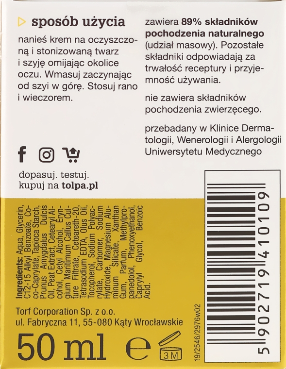 Crema viso idratante - Tolpa Green Oils Moisturizing Cream — foto N3