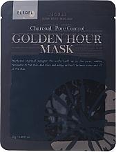 Profumi e cosmetici Maschera viso in tessuto - Elroel Golden Hour Mask Charcoal Pore Control