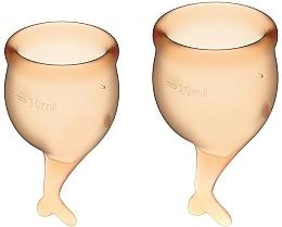Profumi e cosmetici Set Coppetta mestruale, arancione - Satisfyer Feel Secure Menstrual Cups