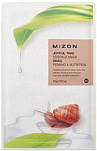 Profumi e cosmetici Maschera in tessuto con estratto di bava di lumaca - Mizon Joyful Time Essence Mask Snail