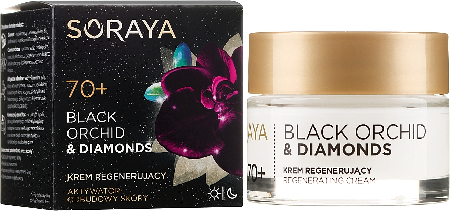 Crema viso rivitalizzante - Soraya Black Orchid & Diamonds 70+ Regenerating Cream