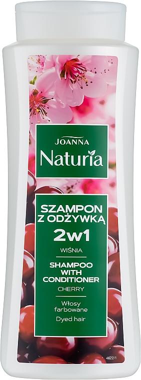 Shampoo condizionante all'amarena per capelli tinti - Joanna Naturia Shampoo With Conditioner With Cherry