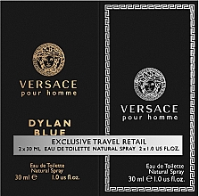 Profumi e cosmetici Versace Dylan Blue Pour Homme - Set (edt/30ml + edt/30ml)