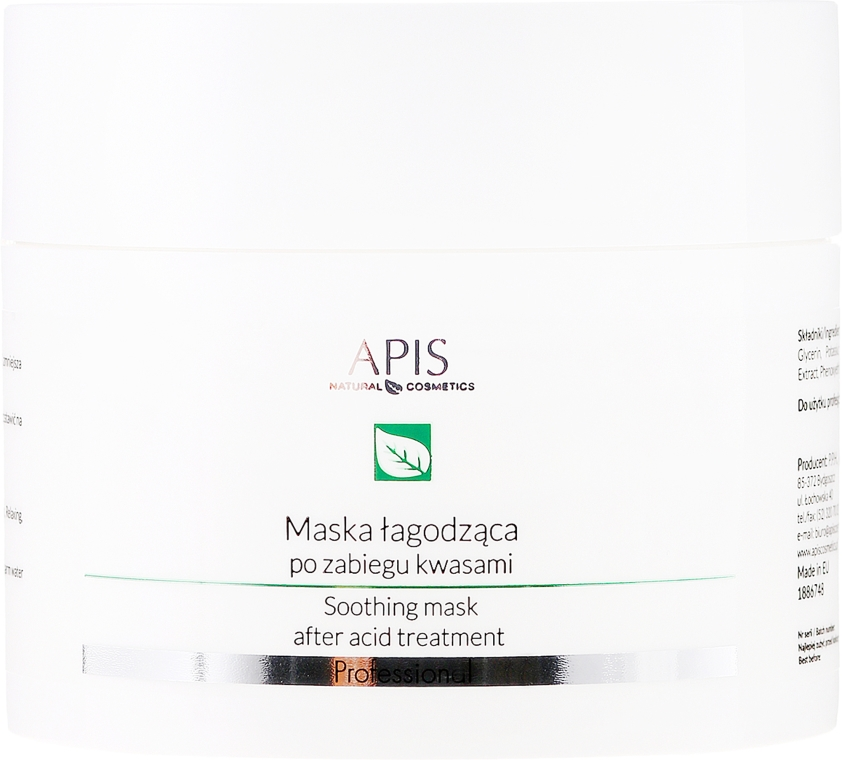 Maschera viso lenitiva - APIS Professional Exfoliation Soothing Mask After Acid Treatment