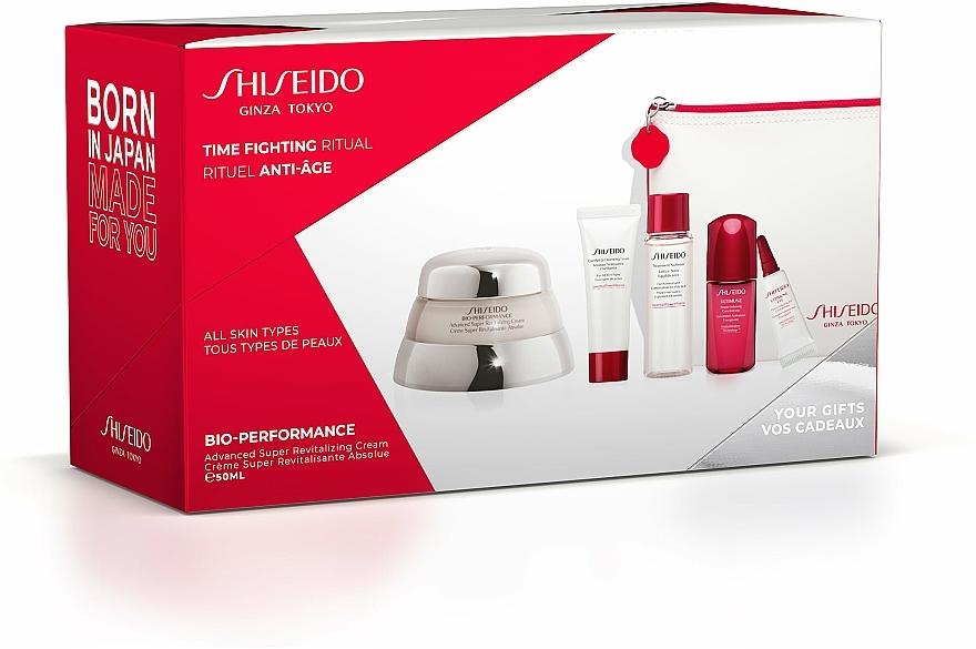 Set - Shiseido Bio-Performance Time Fighting Ritual (cr/50ml + conc/10ml + foam/15ml + softner/30ml + conc/3ml + bag) — foto N1