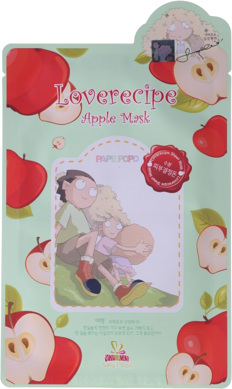 Maschera tonificante viso, con estratto di mela - Sally's Box Loverecipe Apple Mask