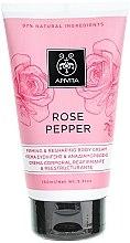 Profumi e cosmetici Crema corpo correttiva rassodante al pepe rosa - Apivita Rose Pepper Firming & Reshaping Body Cream