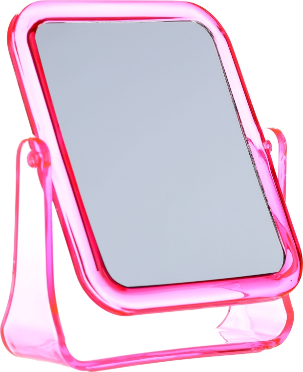 Specchio cosmetico quadrato, 5282, rosa - Top Choice