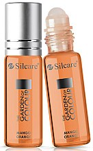 Profumi e cosmetici Olio per unghie e cuticole - Silcare The Garden of Colour Cuticle Oil Roll On Mango Orange