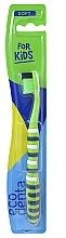 Profumi e cosmetici Spazzolino da denti per bambini, morbido, verde - Ecodenta Soft Toothbrush For Children