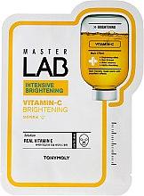 Profumi e cosmetici Maschera viso in tessuto con vitamina C - Tony Moly Master Lab Vitamin C Mask
