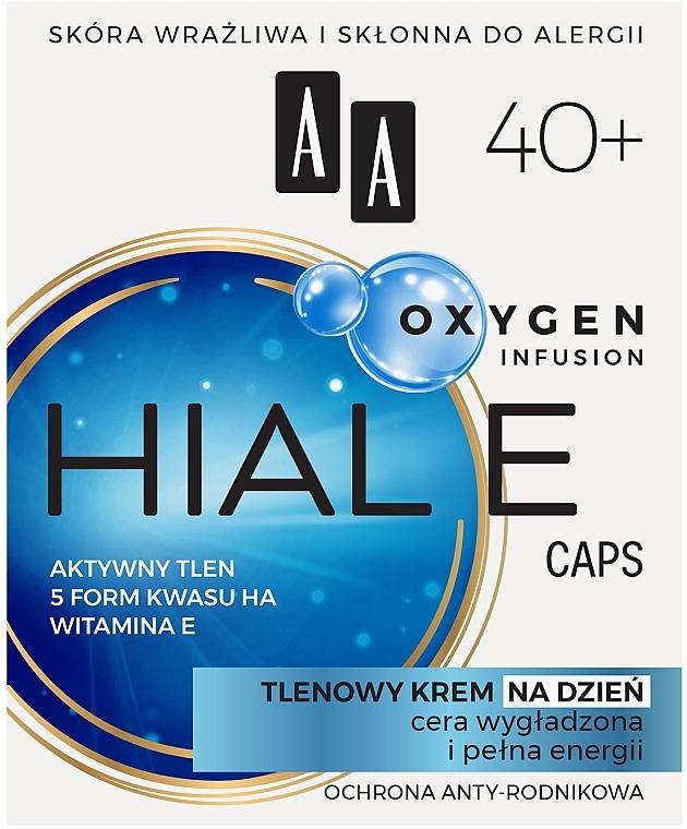 Crema viso all'ossigeno 40+, da giorno - AA Oxygen Infusion Hial E Caps Day Cream