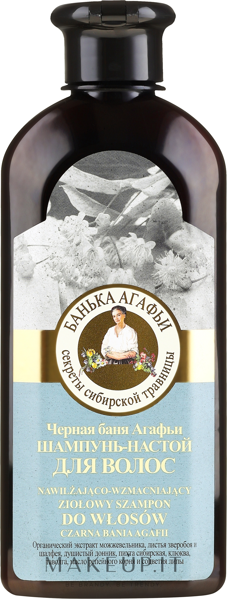 """Shampoo-infusione per capelli """"Bagno nero Agafia"""" - Ricette della nonna Agafia Bania  — foto 350 ml"""