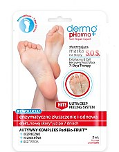 """Profumi e cosmetici Maschera esfoliante per piedi """"SOS Esfoliazione e rinnovamento enzimatico"""" - Dermo Pharma Skin Repair Expert S.O.S. Exfoliating & Cell Recovery Foot Mask"""