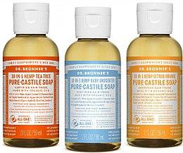 Profumi e cosmetici Set - Dr. Bronner's 18-in-1 Pure Castile Soap (soap/3x60ml)