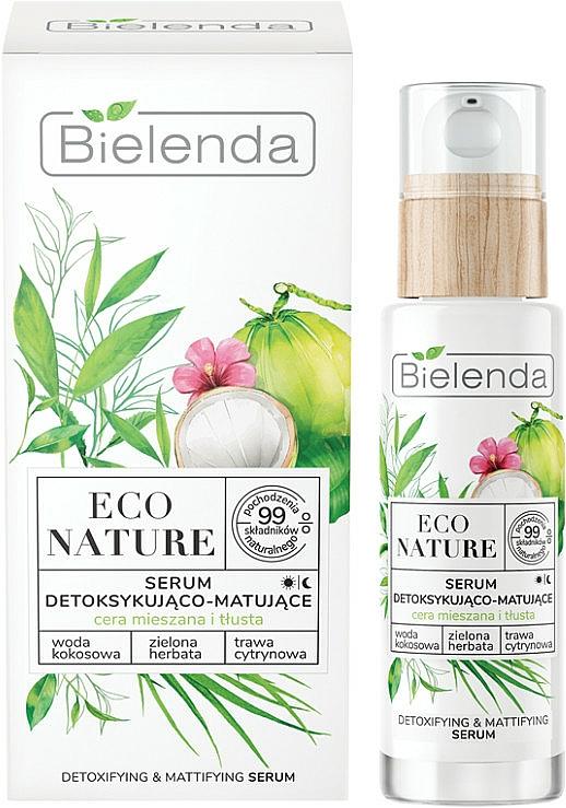 Siero viso - Bielenda Eco Nature Coconut Water Green Tea & Lemongrass Detox & Mattifyng Serum