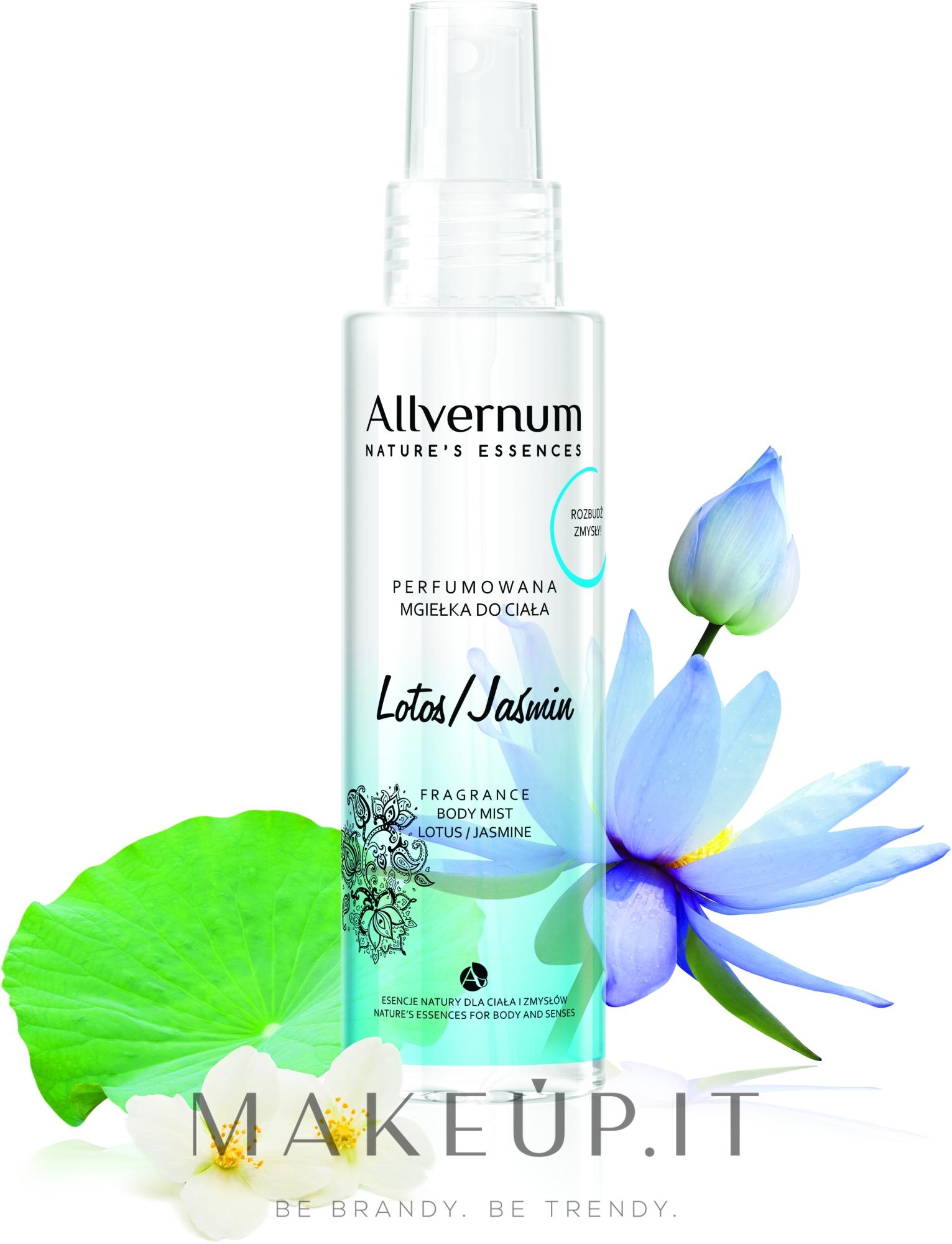 """Spray corpo profumato """"Loto e Gelsomino"""" - Allverne Nature's Essences Body Mist — foto 125 ml"""