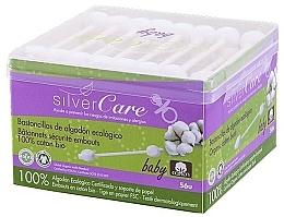Profumi e cosmetici Cotton fioc per bambini, 56 pz - Silver Care Coton