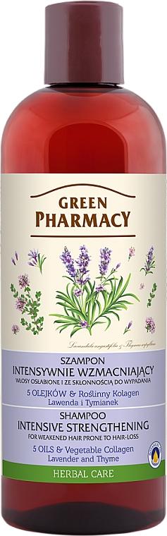 """Shampoo per capelli indeboliti e soggetti a caduta """"Lavanda e timo"""" - Green Pharmacy"""
