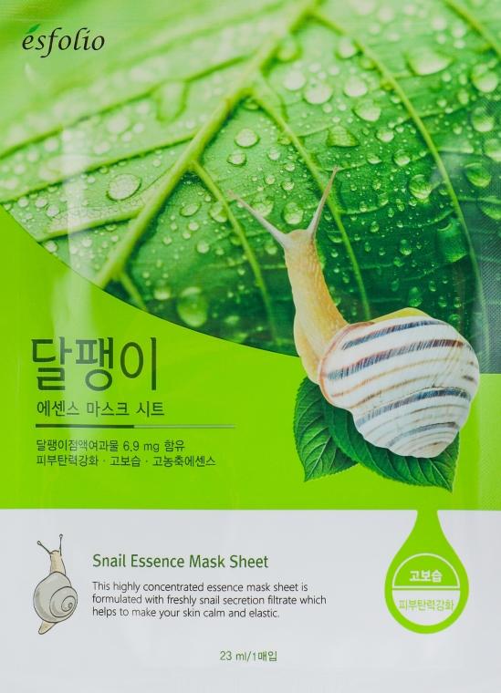 "Maschera in tessuto ""Filtrato di lumaca"" - Esfolio Snail Essence Mask Sheet"