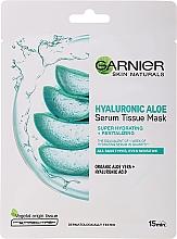 Profumi e cosmetici Maschera idratante in tessuto con aloe e acido ialuronico - Garnier Skin Naturals Hyaluronic Aloe Tissue Mask