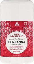 """Profumi e cosmetici Deodorante a base di bicarbonato di sodio """"Pompelmo Rosa"""" (plastica) - Ben & Anna Natural Soda Deodorant Pink Grapefruit"""