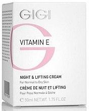 Profumi e cosmetici Crema lifting, da notte - Gigi Vitamin E Night & Lifting Cream